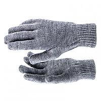 Перчатки трикотажные, акрил, цвет: чёрный, двойная манжета// Сибртех Россия