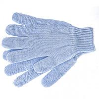 Перчатки трикотажные, акрил, двойные, цвет: голубой, двойная манжета// Сибртех Россия