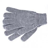 Перчатки трикотажные, акрил, двойные,цвет:серое мулине,двойная манжета// Сибртех Россия