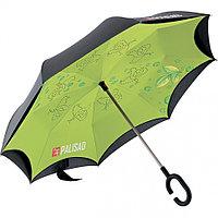 Зонт-трость обратного сложения, эргономичная рукоятка с покрытием Soft Touch// PALISAD