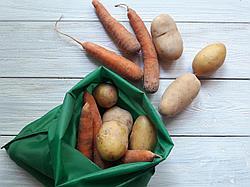 Плащевка. Многоразовый мешочек авоська для грязных овощей