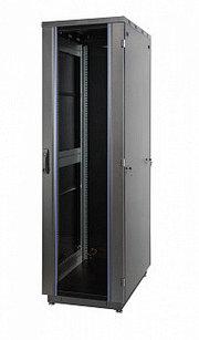 """60F-22-66-31BL19"""" шкаф Eurolan, 22U 600 × 600 мм передняя дверь стеклянная, задняя металлическая"""