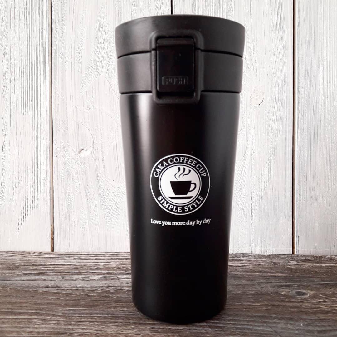 Термокружка термос для кофе. Черный