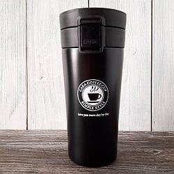 Термокружка термос для кофе. Черный. 500 мл.