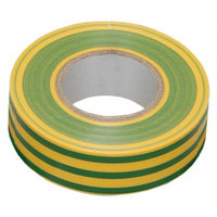 Изолента 0,13х15 мм желто-зеленая 20 метров ИЭК, фото 1