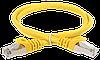 ITK Коммутационный шнур (патч-корд), кат.5Е UTP, 1,5м, желтый