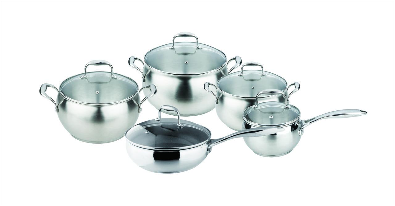 Набор посуды granhel Stainless steel AA002-10 10 предметов