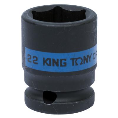 "Головка торцевая ударная шестигранная 1/2"", 22 мм KING TONY 453522M"