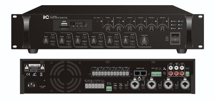ITC Audio TI-5006S 6-ти зонный микширующий усилитель с аттенюатором и USB