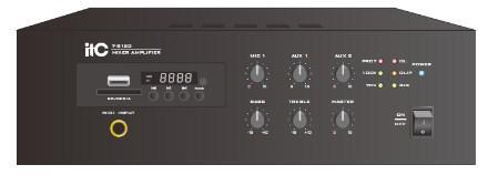 ITC Audio T-B120TB Микширующий усилитель с USB/SD/TUNER и bluetooth