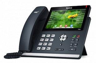 IP телефон Yealink  SIP-T48S, цветной сенсорный экран,16 SIP аккаунтов, BLF, PoE, GigE, без БП