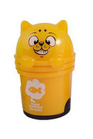 Точилка с ластиком котик в корзинке 2 в 1 в ассортименте Желтый