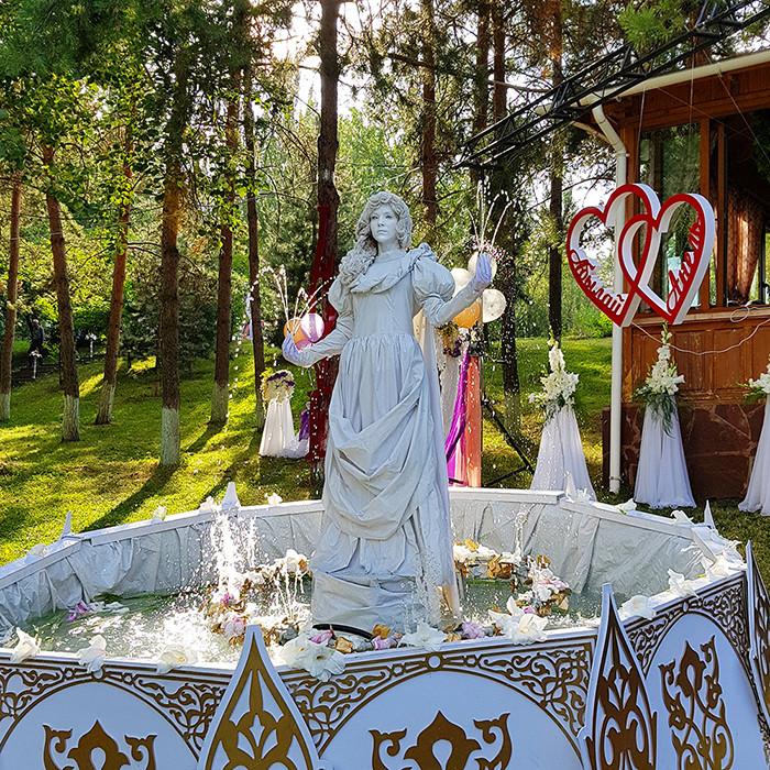 Живой фонтан