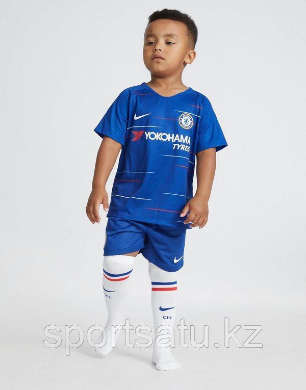 Челси форма детская 2018/19 домашняя (майка+шорты)