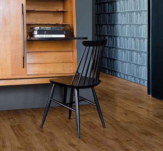 ПВХ плитка Quick Step коллекция Pulse Click Дуб осенний коричневый