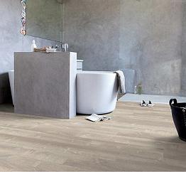 ПВХ плитка Quick Step коллекция Pulse Click Дуб песчаный теплый серый