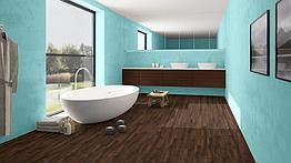 ПВХ плитка Quick Step коллекция Balance Click Жемчужный коричневый дуб