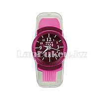 Точилка с ластиком и щеткой Часы 3 в 1 в ассортименте розовый