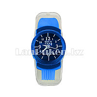 Точилка с ластиком и щеткой Часы 3 в 1 в ассортименте синий