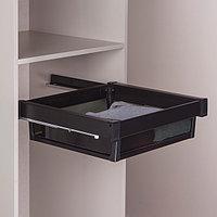 Выдвижная корзина  для шкафа, черный, 60 см