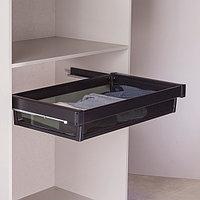 Выдвижная корзина  для шкафа, черный, 90 см