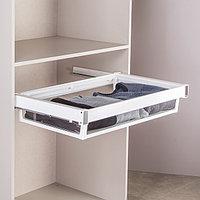 Выдвижная корзина  для шкафа цвет белый , 90 см