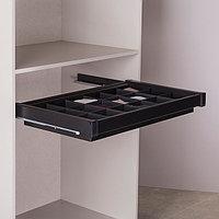 Ящик с многофункциональной вставкой,цвет  черный, 90 см