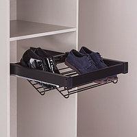 Выдвижная корзина для обуви, цвет черный 60 см