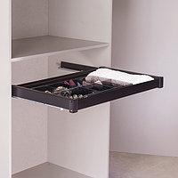 Выдвижной ящик для аксессуаров, цвет  черный, 90 см