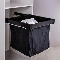 Выдвижной мешок для белья, цвет черный, 60 см