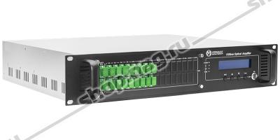 Оптический усилитель VERMAX для сетей КТВ, 16*19dBm