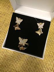"""Серьги и кольцо """"бабочки"""" / Bruna"""