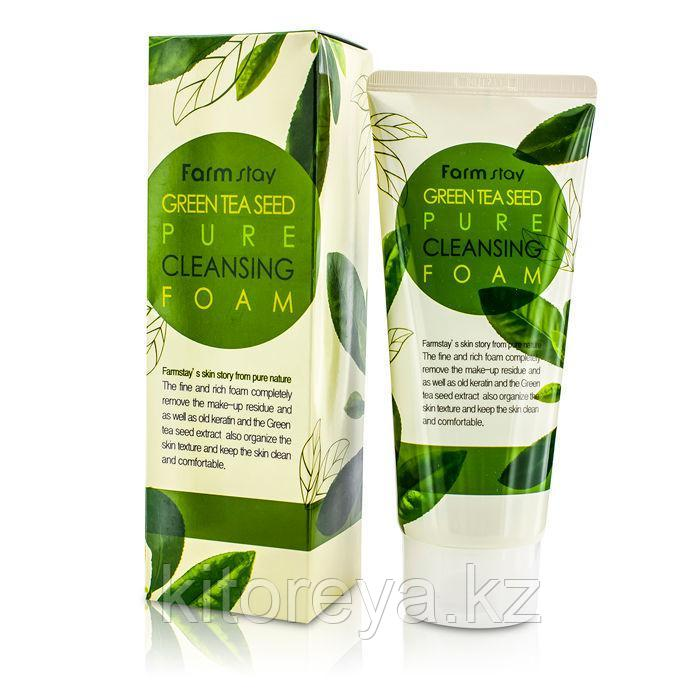 FARM STAY Pure Cleansing Foam Green Tea Seed ( Пенка для умывания с зеленым чаем )