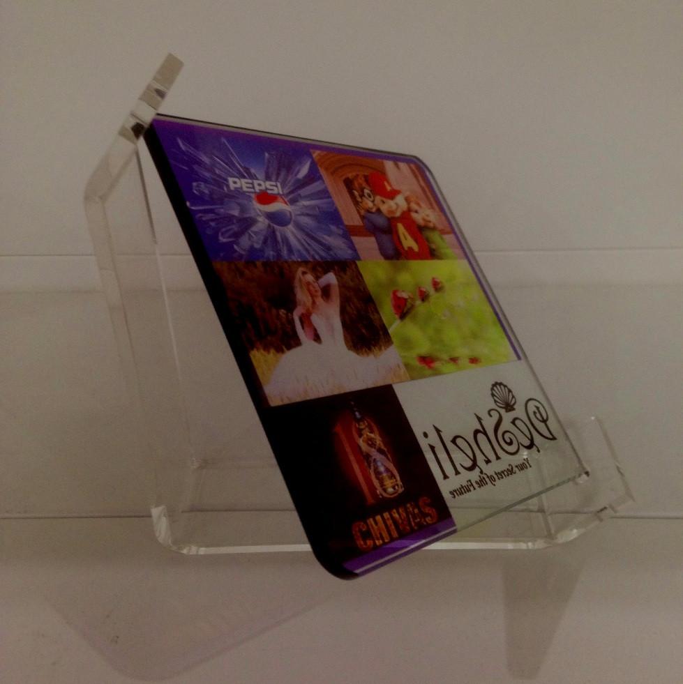 Стеклянная рамка для сублимации 12,5 см (acrylic frame) прозрачная