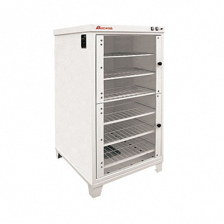 Шкаф расстоечный ШРЭ-2.1 электрический, стеклянные дверцы (820x1010x1635 мм., 220 В, 1,6 кВт, масса 150 кг.)