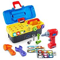 Интерактивная развивающая игрушка «Игровой набор с дрелью» VTech, фото 1