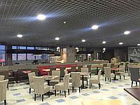 Потолок Грильято 200*200*30мм цвет серый металлик