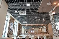 Потолок Грильято 100*100*30мм цвет серый металлик