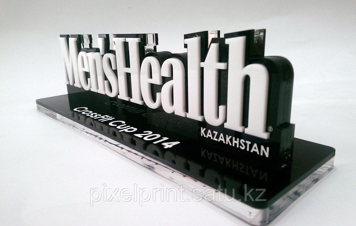Награда с объемным логотипом