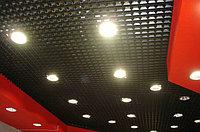 Потолок Грильято 100*100*30мм цвет черный.