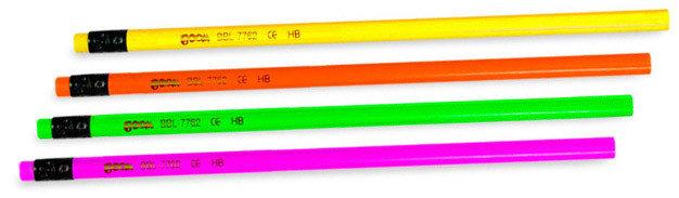 "Карандаш с ластиком ""Proff Neon"" цвет корпуса радужны, фото 2"