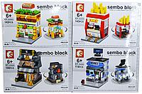 6062 Констр. Здания Sembo Block 4 вида из 8шт цена за 1шт 24*16см, фото 1