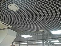 Потолок Грильято 86*86*30мм цвет серый металлик