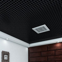 Потолок грильято 86*86*30мм цвет черный