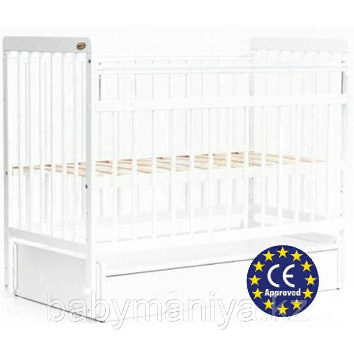 Кроватка Bambini Евро стиль M 01.10.04 цвет Белый