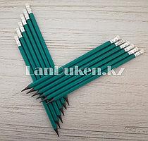 Простые карандаши с ластиком 12 штук в упаковке (HB)