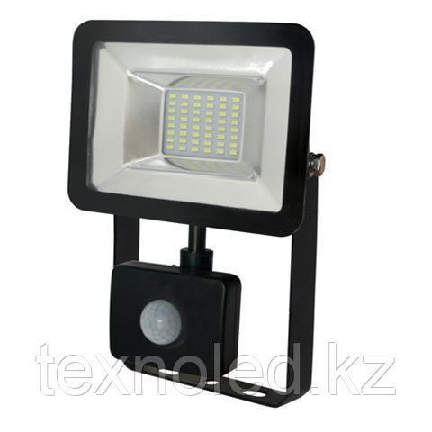 Светодиодный прожектор многодиодный с датчиком движения LED 20 w