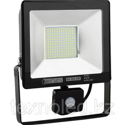 Светодиодный прожектор многодиодный с датчиком движения LED 50 w, фото 2
