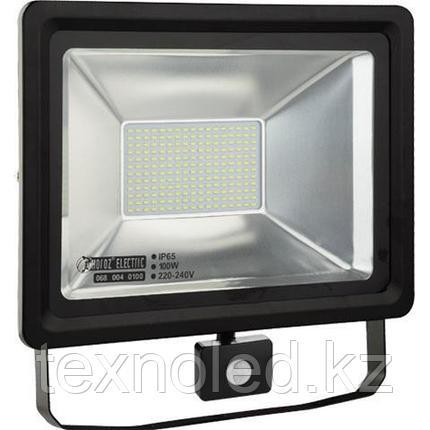 Светодиодный прожектор многодиодный с датчиком движения LED 100 w, фото 2
