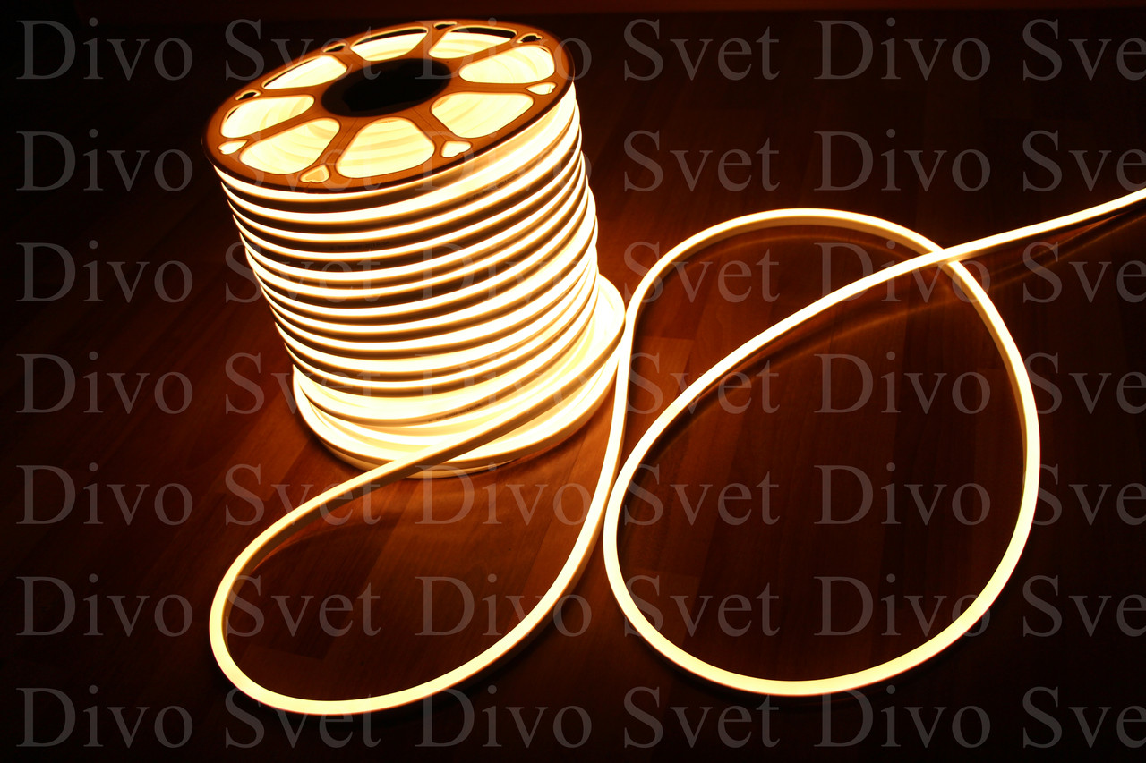 LED FLEX NEON SMD 8*16мм, Тёплый белый (3 ВАРИАНТА). Золотистый светодиодный неоновый провод.